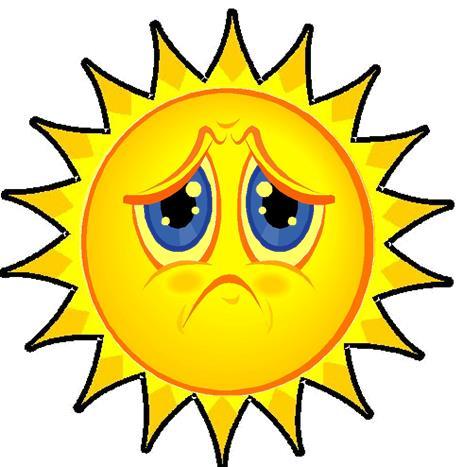 Картинка солнце грустит для детей