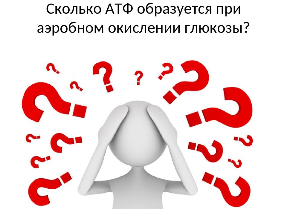 Сколько АТФ образуется при аэробном окислении глюкозы?