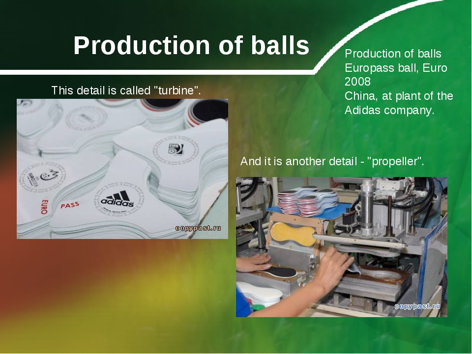 Production of balls Production of balls Europass ball, Euro 2008 China, at pl...
