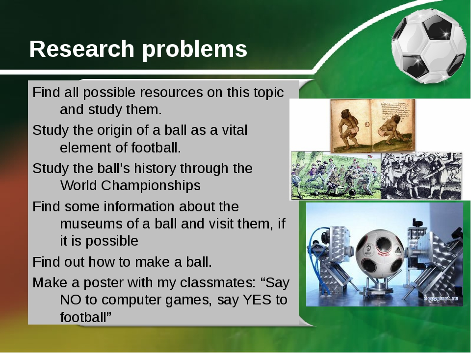 Research problems Find all possible resources on this topic and study them. S...