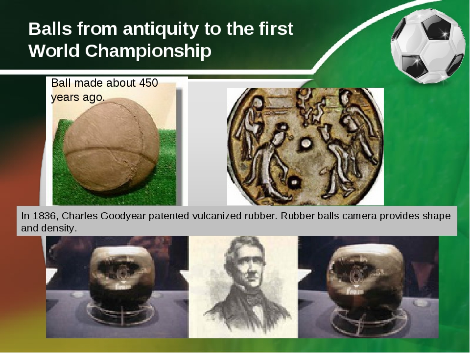 Balls from antiquity to the first World Championship Ball made about 450 year...