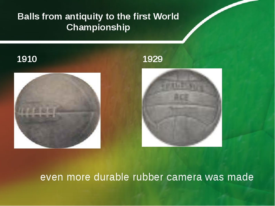 Balls from antiquity to the first World Championship 1910 1929 even more dura...