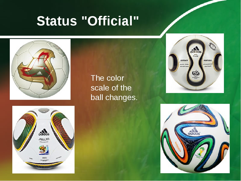 """Status """"Official"""" The color scale of the ball changes."""