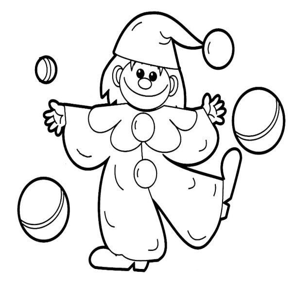 Раскраска петрушка для детей