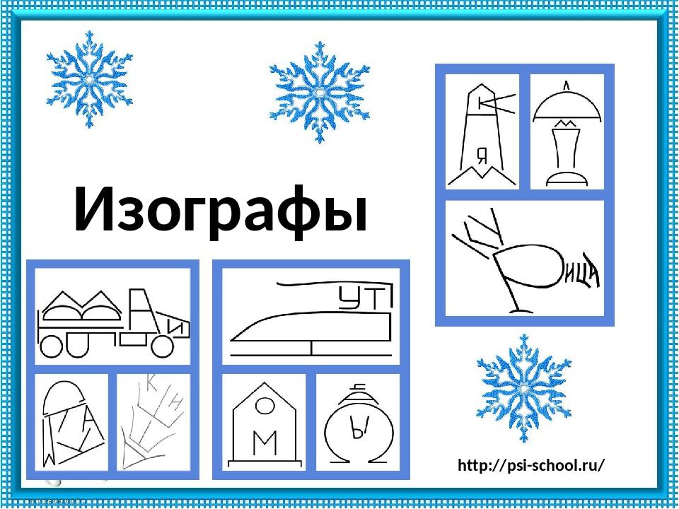 Изографы http://psi-school.ru/ Использованы рисунки из книги А.Ф. Братченко,...