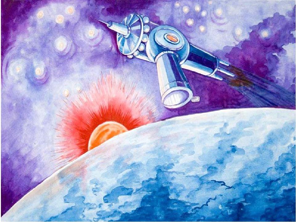Картинки на тему космонавтики карандашом