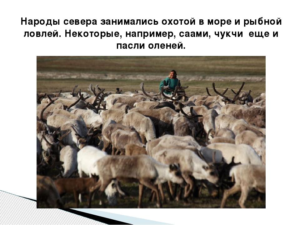 Народы севера занимались охотой в море и рыбной ловлей. Некоторые, например,...