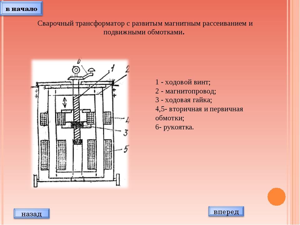 Сварочный трансформатор с развитым магнитным рассеиванием и подвижными обмот...