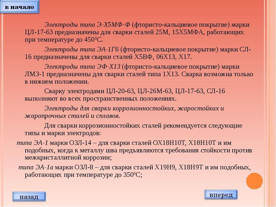 Электроды типа Э-Х5МФ-Ф (фтористо-кальциевое покрытие) марки ЦЛ-17-63 предн...