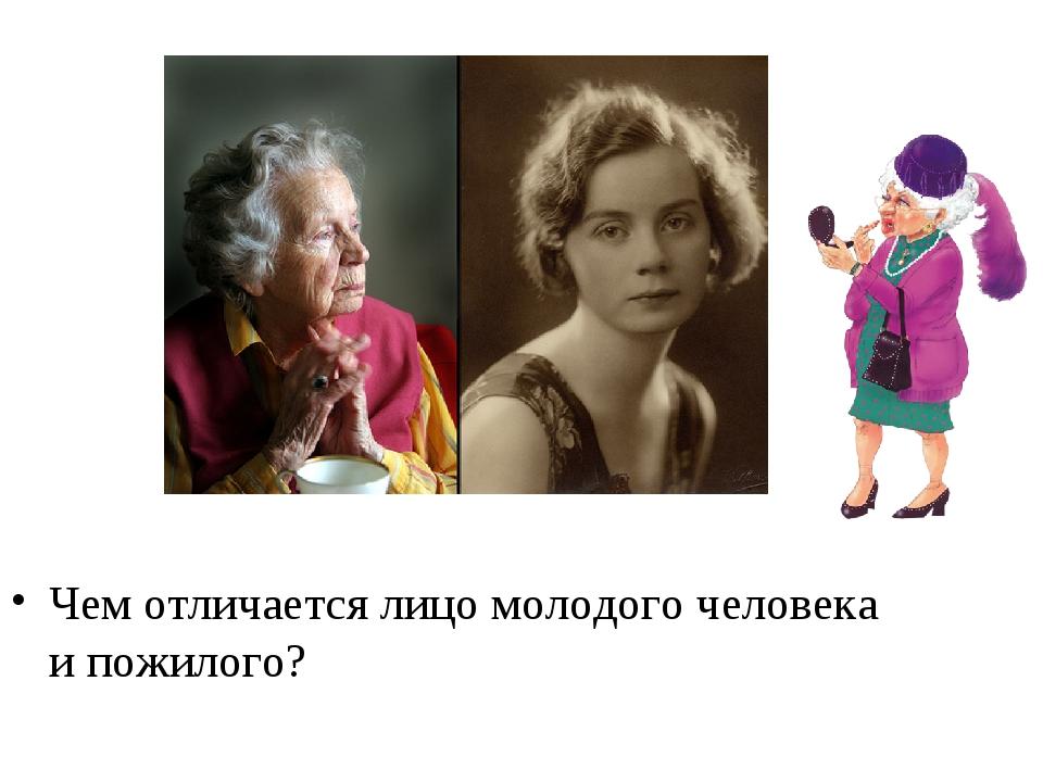 Чем отличается лицо молодого человека и пожилого?