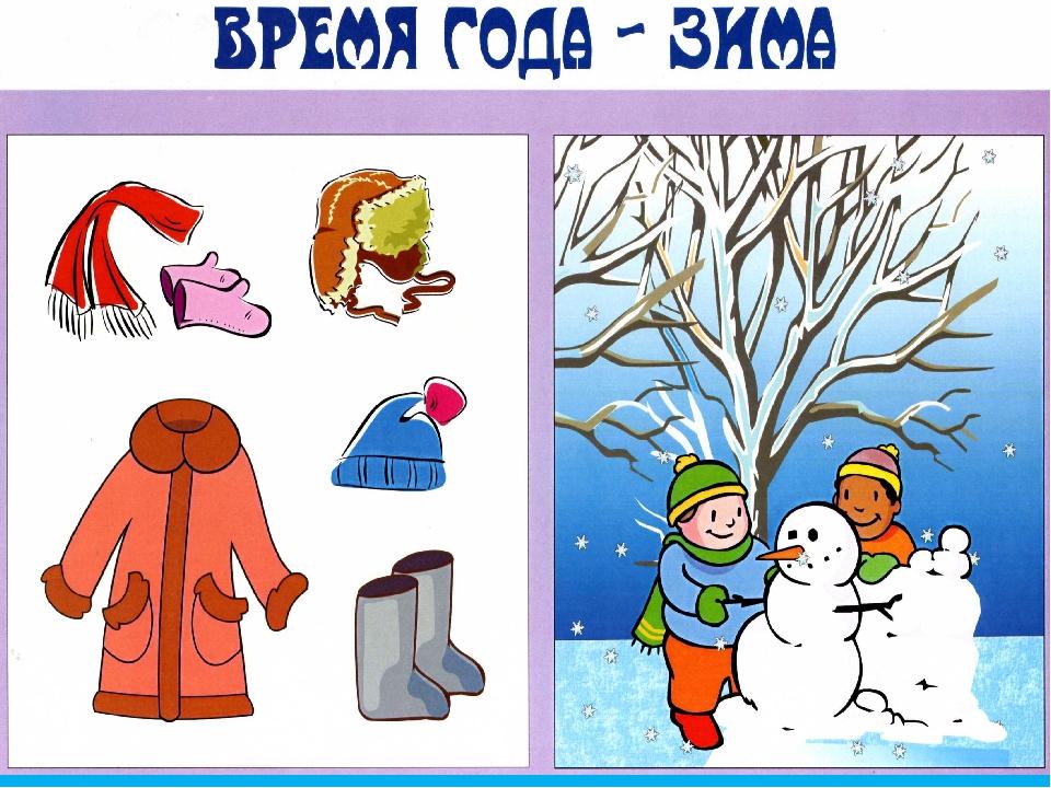 Картинки одежда зима для детского сада