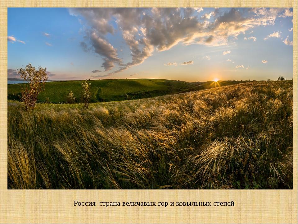 Россия страна величавых гор и ковыльных степей