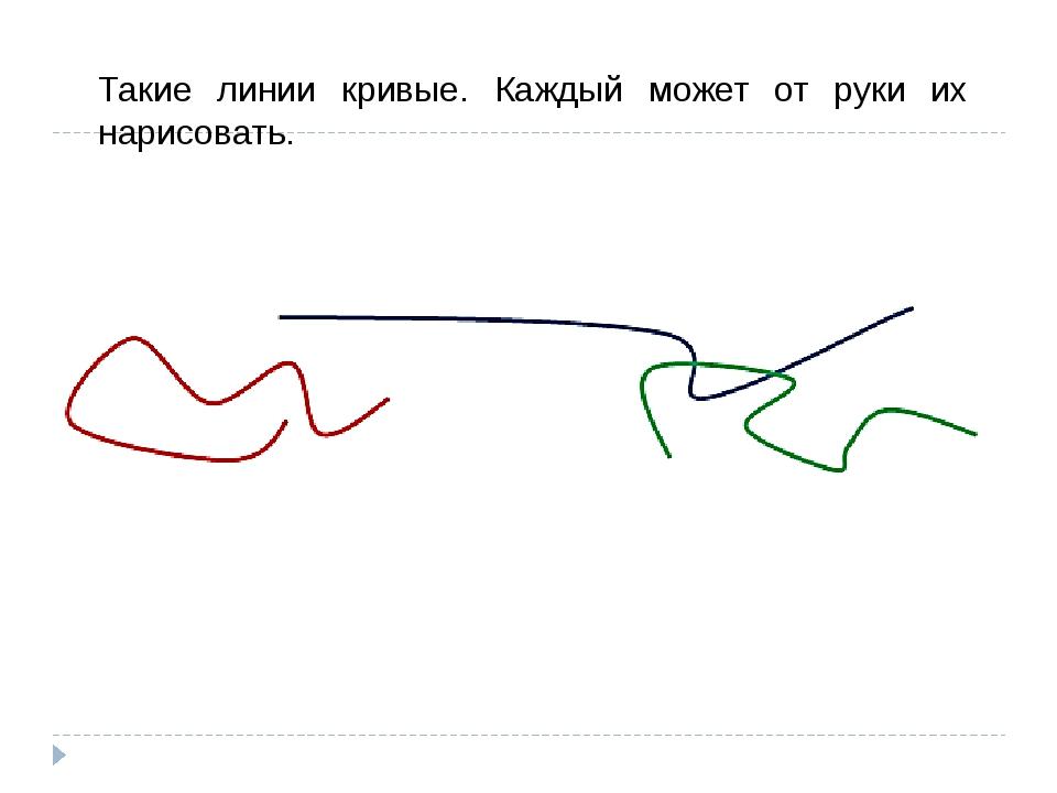 Такие линии кривые. Каждый может от руки их нарисовать.