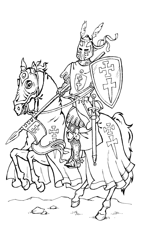 буду раскраска рыцарь на коне с мечом разнообразие наше взаимопонимание