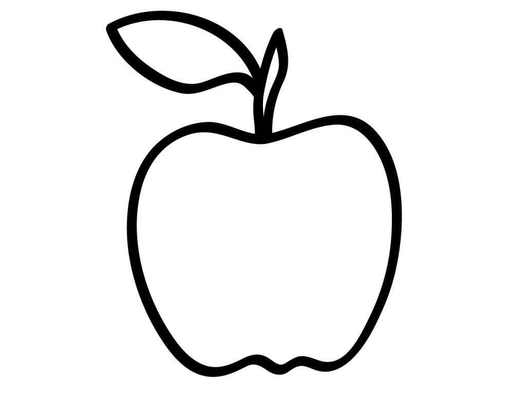 Черно белые картинки яблок фрисо красочный