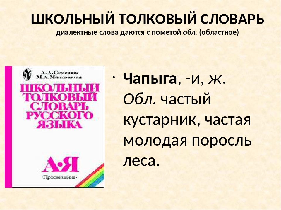 Расширение словарного запаса Найдите в словаре учебника слова с пометой ОБЛ....