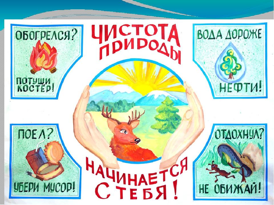 Открытка, лозунги в картинках по экологии