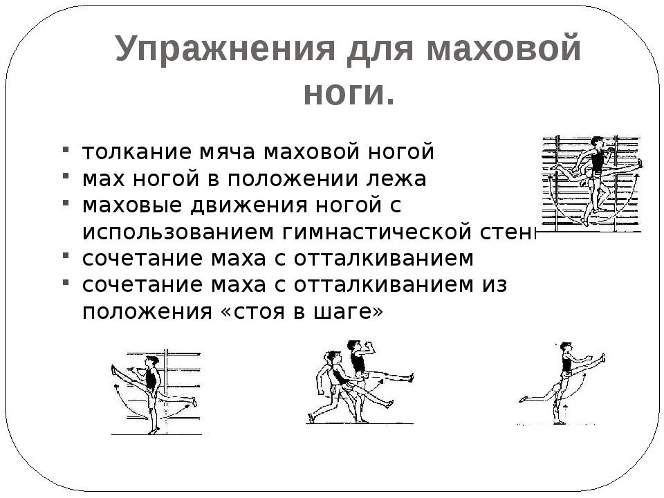 Упражнения для маховой ноги. толкание мяча маховой ногой мах ногой в положени...