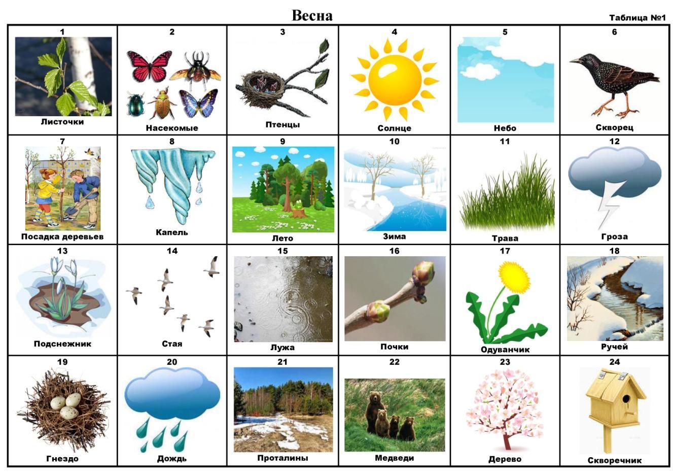 дидактические игры на тему весна в картинках