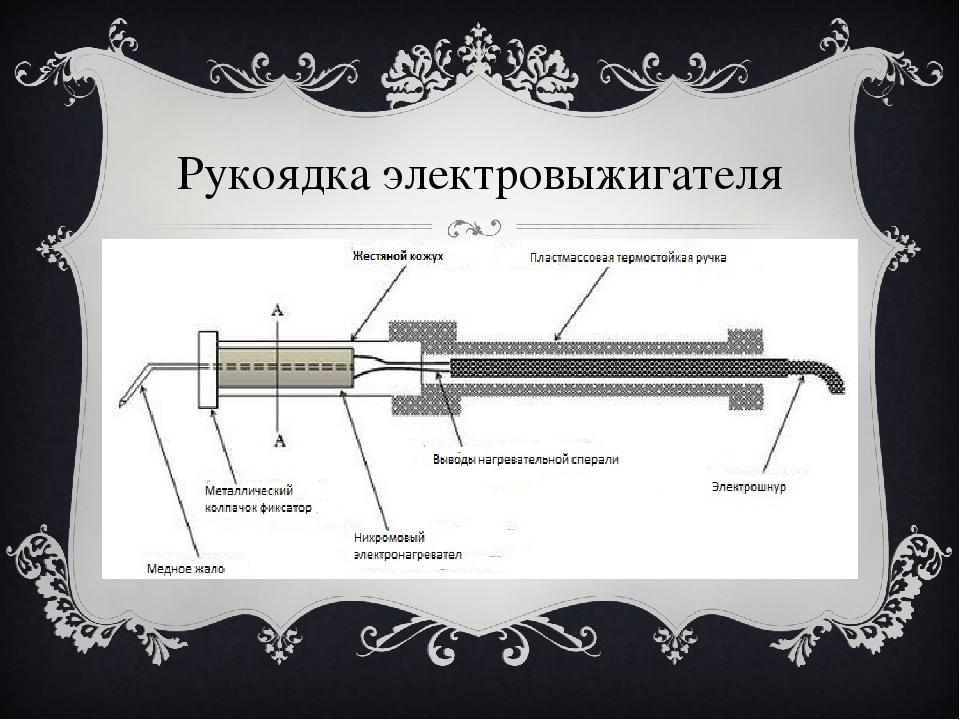 Рукоядка электровыжигателя