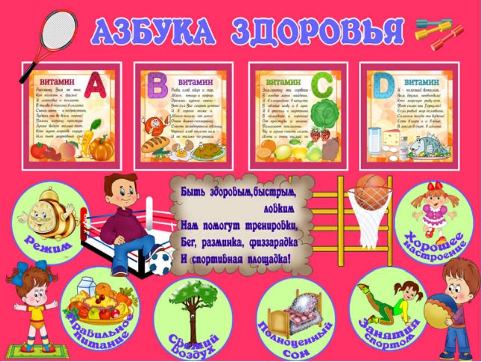 Картинка о здоровье для дошкольников