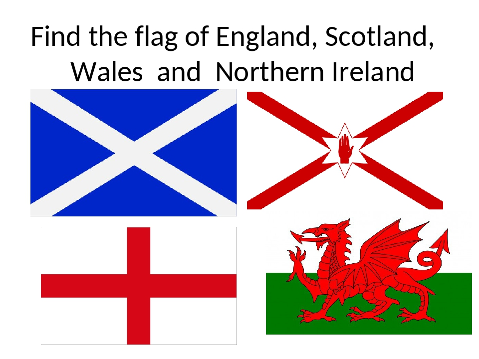 Find the flag of England, Scotland, Wales and Northern Ireland
