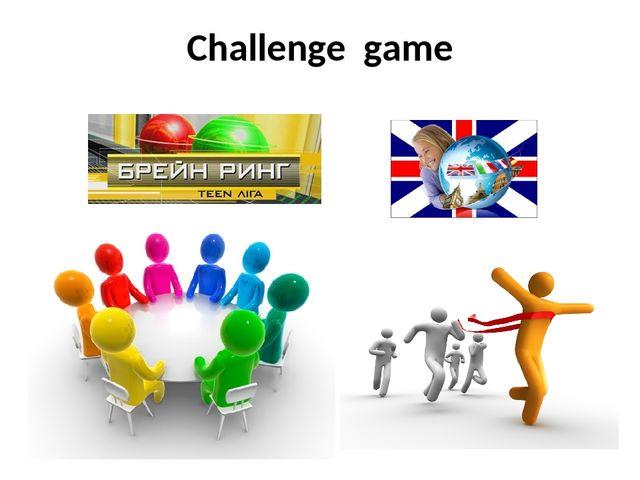 Challenge game