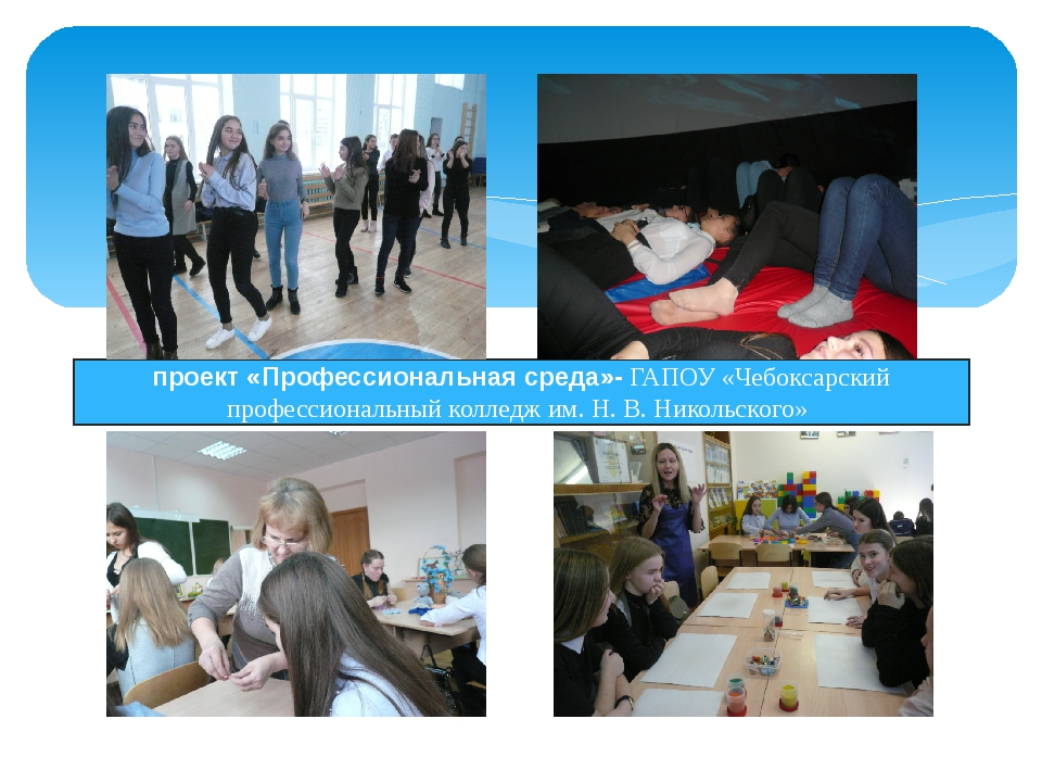 проект «Профессиональная среда»- ГАПОУ «Чебоксарский профессиональный коллед...