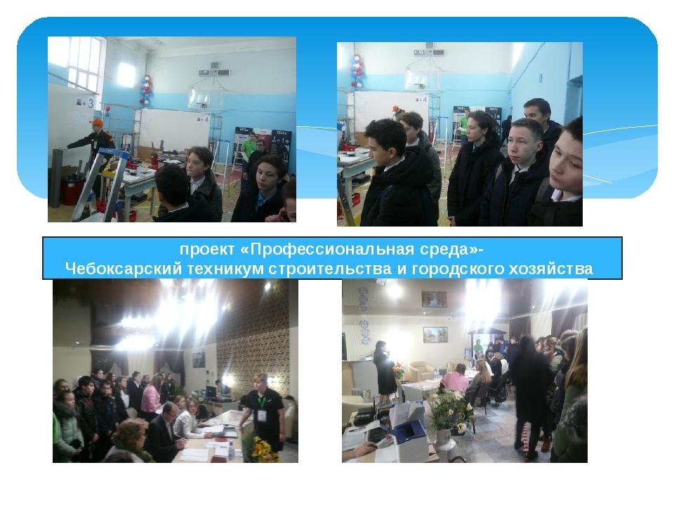 проект «Профессиональная среда»- Чебоксарскийтехникумстроительстваигород...
