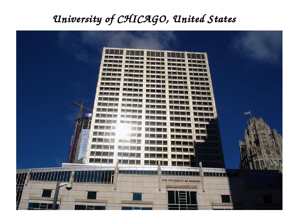 University of CHICAGO, United States