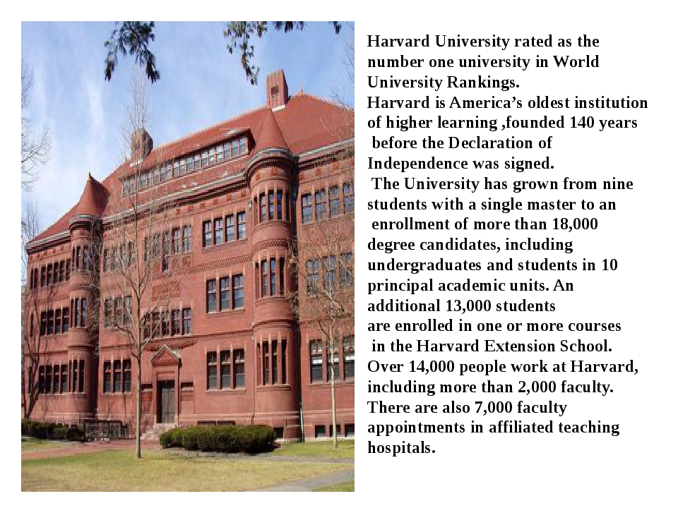 Harvard University rated as the number one university in World University Ran...