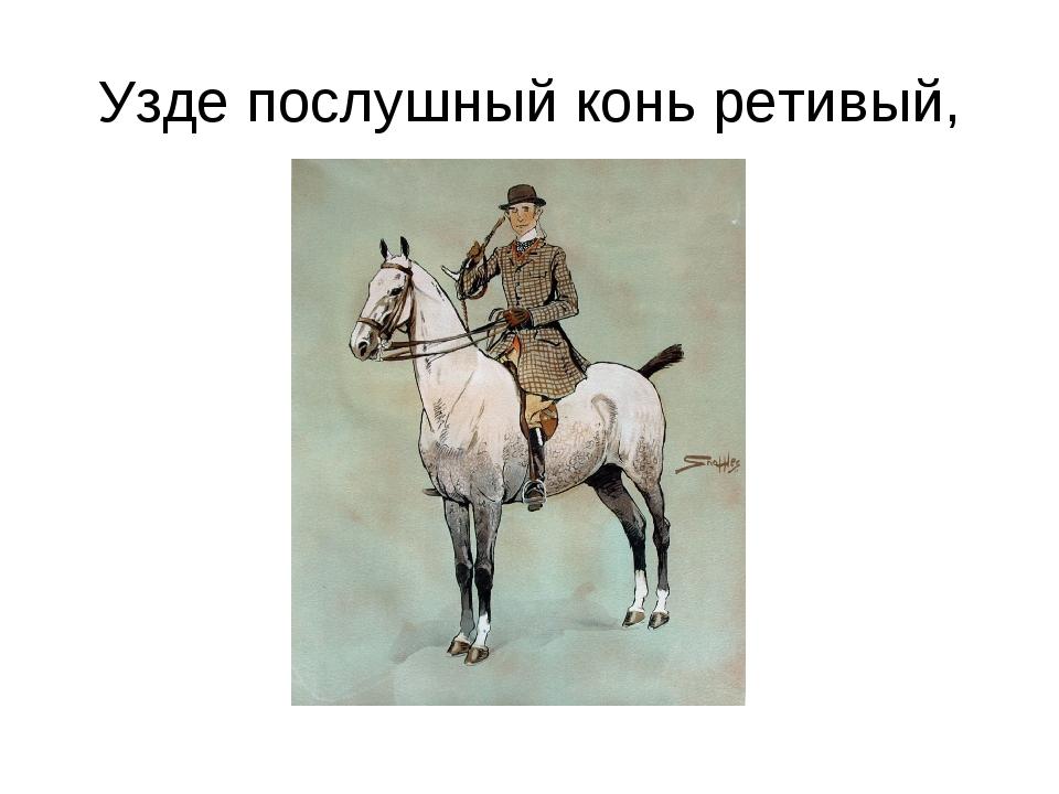 Узде послушный конь ретивый,