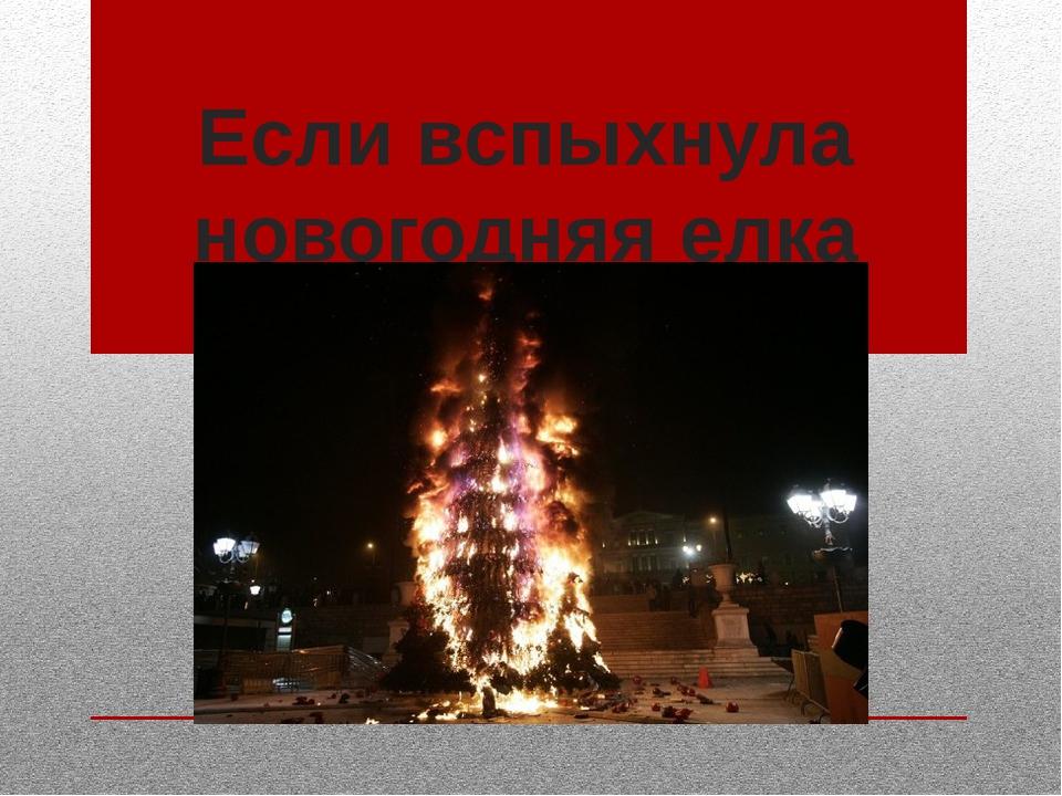 Если вспыхнула новогодняя елка