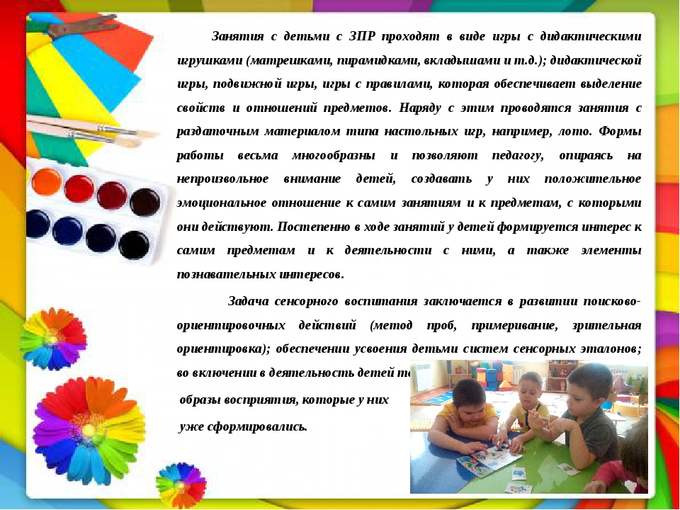 Занятия с детьми с ЗПР проходят в виде игры с дидактическими игрушками (матр...