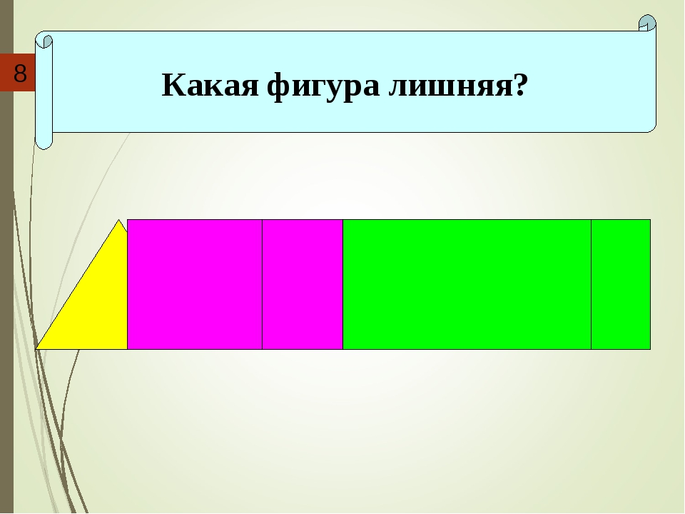 Какая фигура лишняя? 8