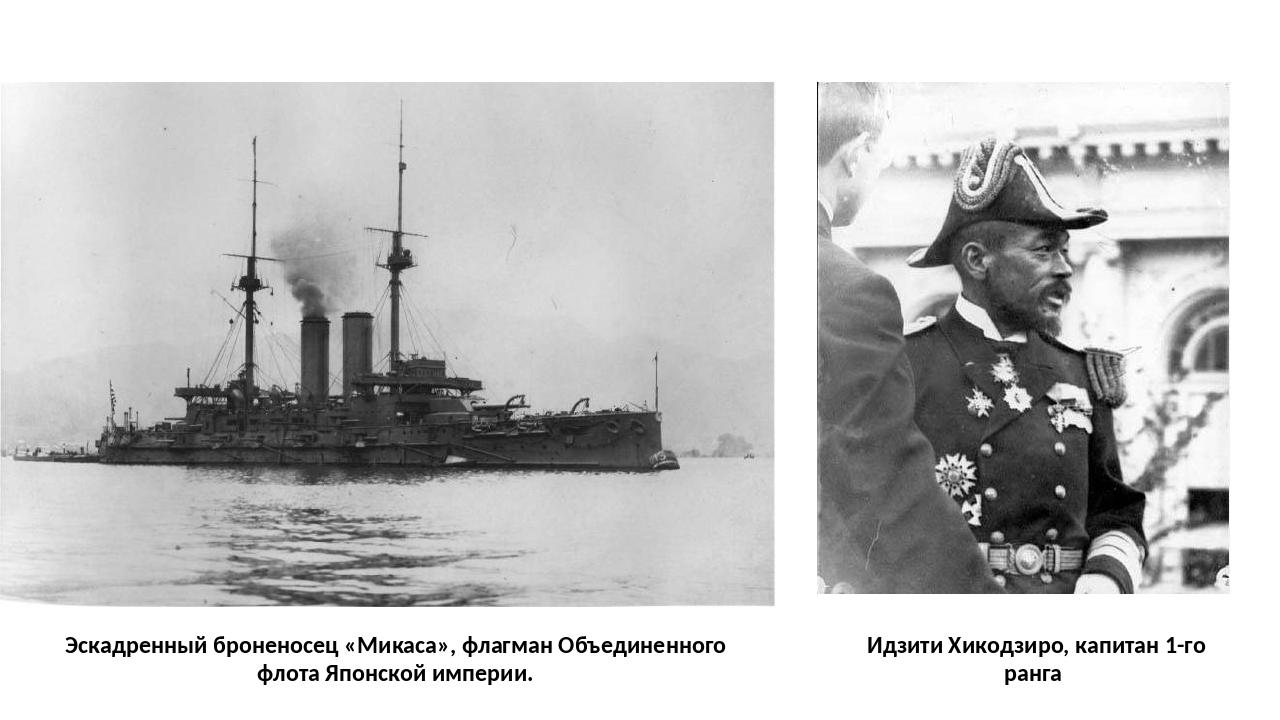 Идзити Хикодзиро, капитан 1-го ранга Эскадренный броненосец «Микаса», флагма...