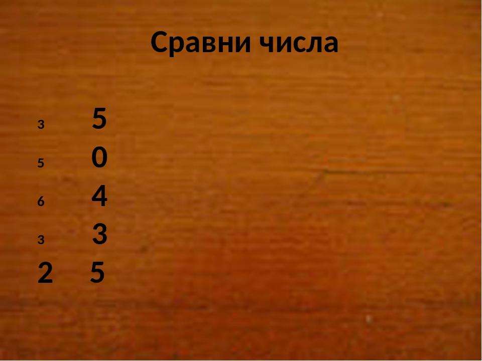 Сравни числа 5 0 4 3 2 5
