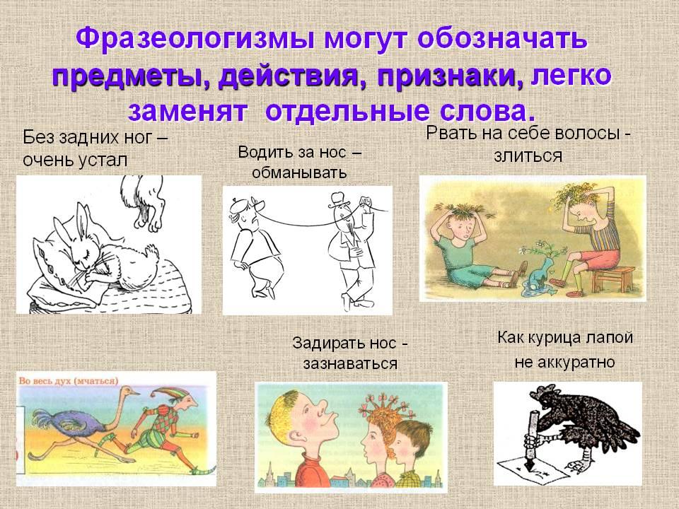 образные выражения в картинках