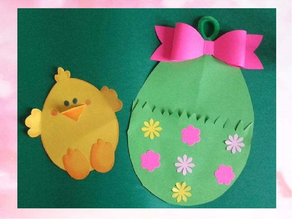 Как красиво сделать пасхальное яйцо открытку из цветной бумаги