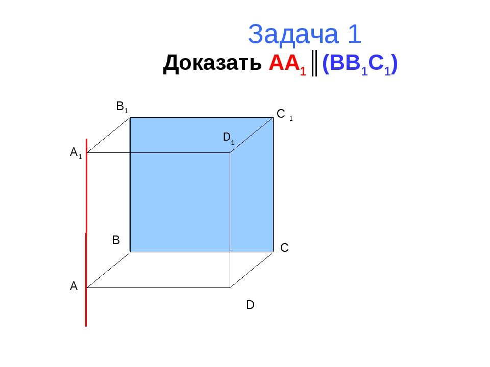 Задача 1 Доказать AA1║(BB1C1) A B C D A1 B1 C 1 D1