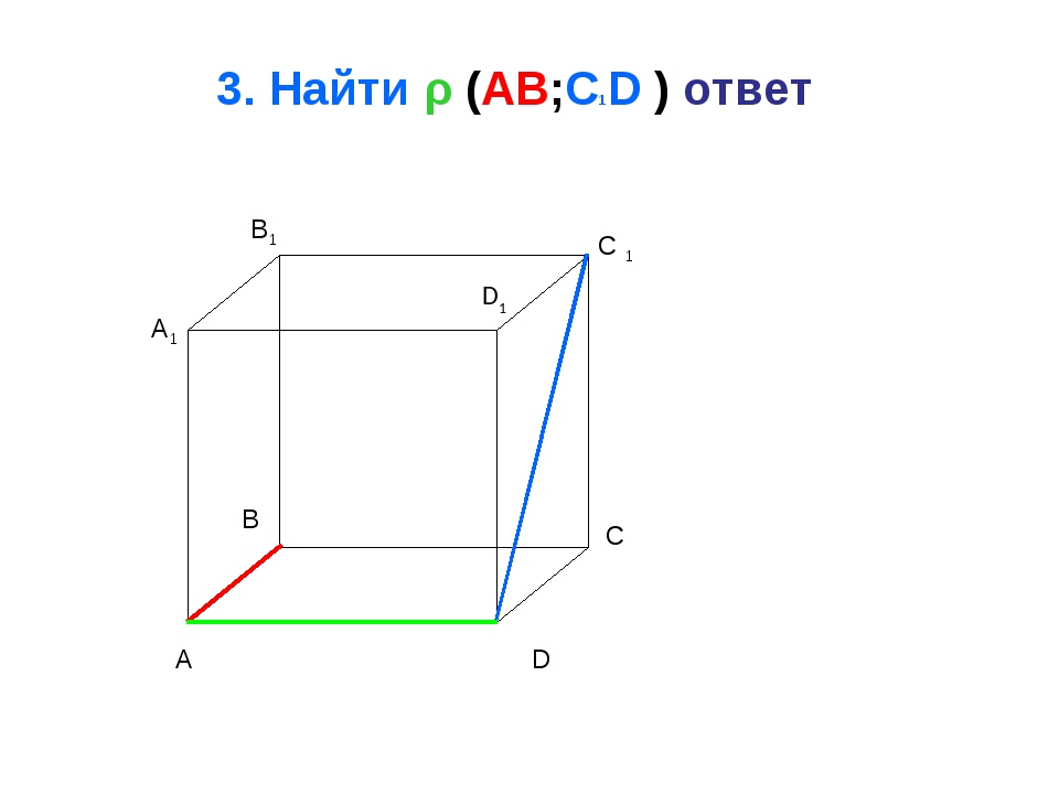 3. Найти ρ (AB;C1D ) ответ