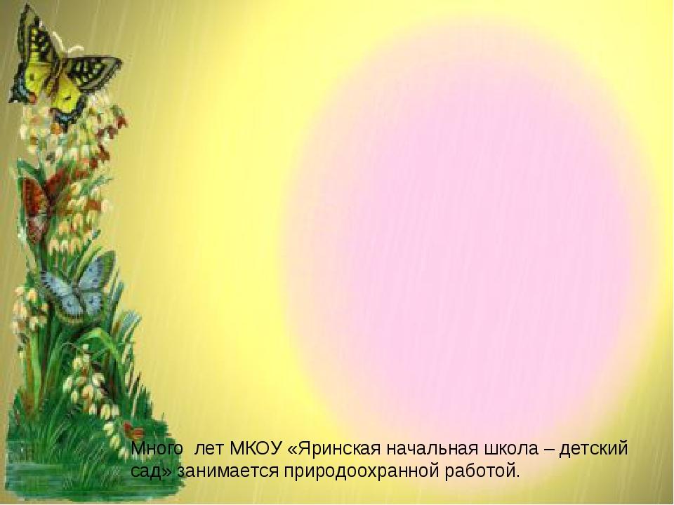 Много лет МКОУ «Яринская начальная школа – детский сад» занимается природоох...