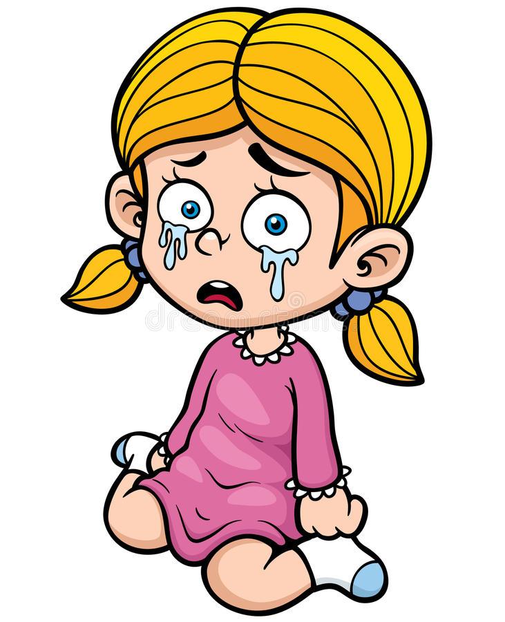 Расстроенная девочка картинки рисованные