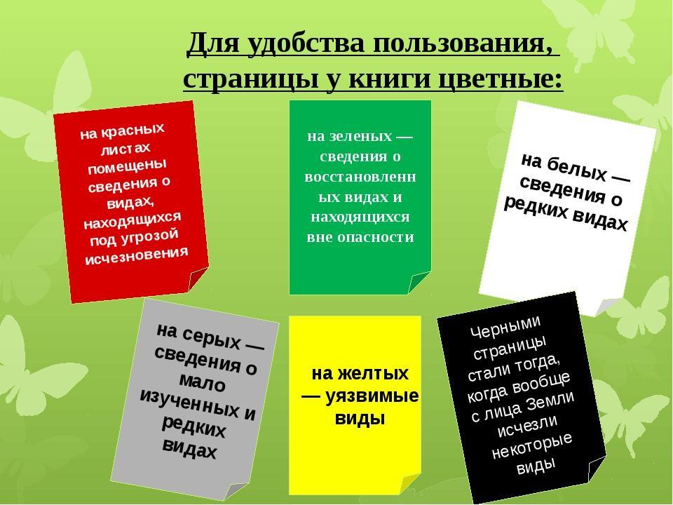 страницы красной книги россии что означает каждый цвет презентация изменится сейчас каждый