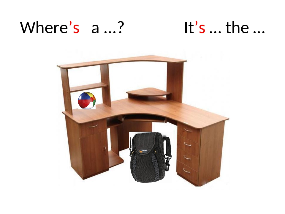 Where's a ...? It's … the …