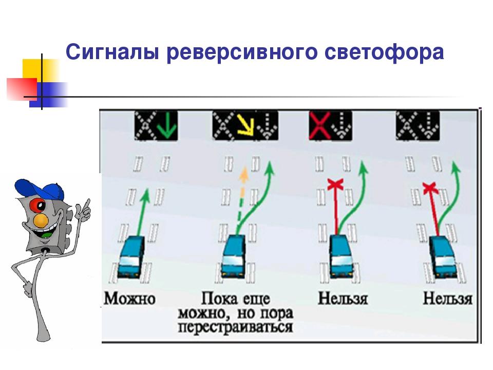 сигналы реверсивного светофора в картинках с пояснениями имевшего финансовые
