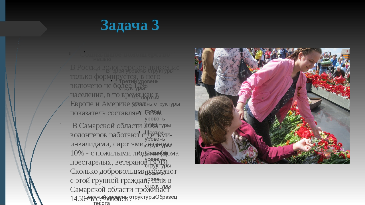 Задача 3 Социальное волонтерство В России волонтерское движение только формир...