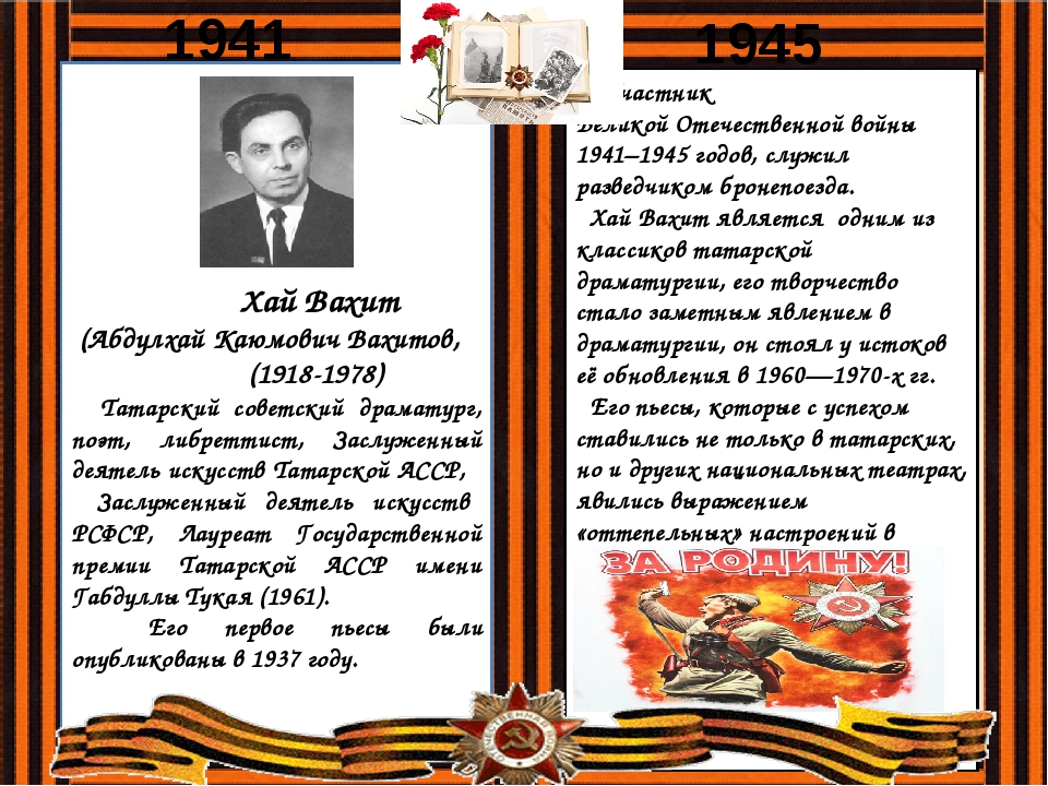 Хай Вахит (Абдулхай Каюмович Вахитов, (1918-1978) Татарский советский драмат...