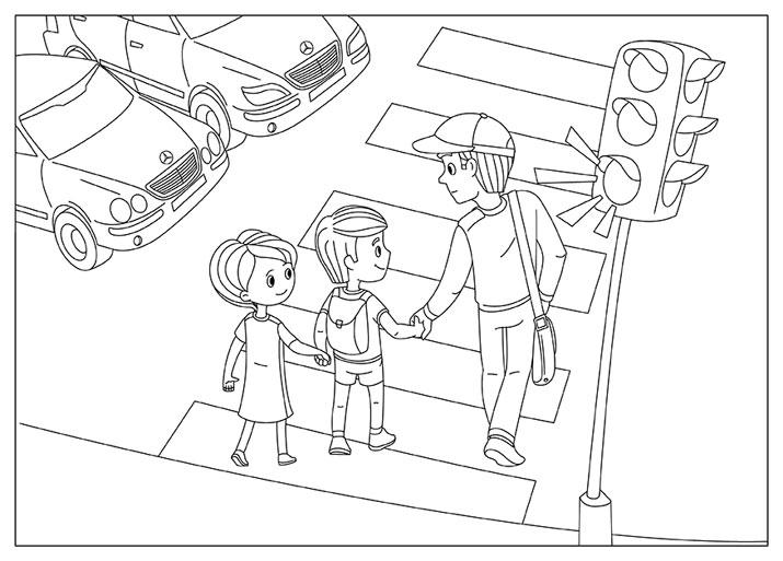 контуры картинок по правилам дорожного движения папке изображения вместо