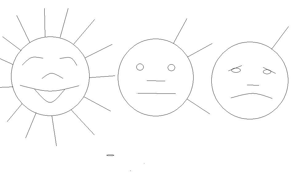 картинка солнышко без улыбки для рефлексии вызывают восторг